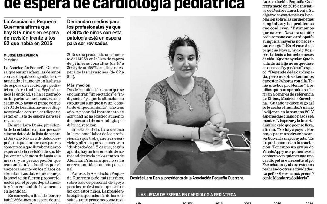 Denunciamos el aumento en las listas de espera de cardiología pediátrica en Navarra